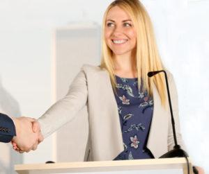 Presentation skills - lady - image